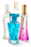 Perfume in a glass bottles Stock Image