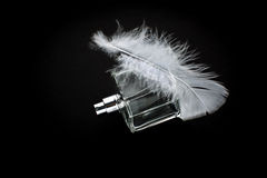 Perfume isolated over a black background Royalty Free Stock Photography