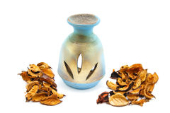 Perfume Lamp with potpourri Royalty Free Stock Images