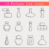 Perfume line icons royalty free illustration