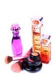Perfume and makeup items Stock Photos