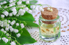 Perfume oil Lily of the valley Royalty Free Stock Image