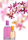 Perfume and orchid Royalty Free Stock Photo