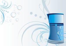Perfume para homens no fundo decorativo Fotografia de Stock
