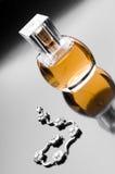 Perfume para mulheres e o bracelete de prata Fotos de Stock