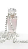 Perfume and pearls Royalty Free Stock Photos