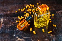 Perfume and perfume bottles For woman. Perfume and perfume bottles For woman stock images