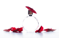 Perfume with  petals of rose Royalty Free Stock Image