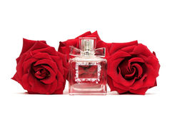 Perfume and roses Royalty Free Stock Images