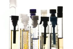 Perfume samples Royalty Free Stock Image