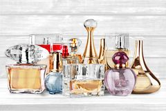 Perfume. Scented  Sprayer Bottle Cosmetics Spray Spraying royalty free stock images