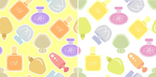 Perfume set of seamless patterns Royalty Free Stock Photos