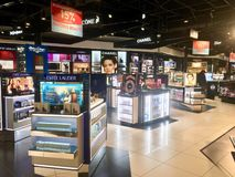 Perfume shop in Montreal Airport, Canada royalty free stock photography