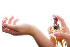 Perfume spraying Royalty Free Stock Photography