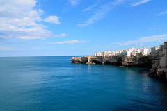 Perfume 'summer. The enchanting coast of Polignano a Mare, Italy Royalty Free Stock Images