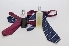 Perfume and tie Stock Photos