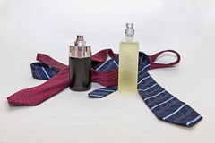 Perfume and tie Royalty Free Stock Photography