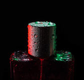 Perfume, water, action, spark, cosmetic, aroma, fashion, fresh, drops Stock Photography