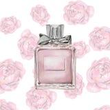 Perfume watercolor Royalty Free Stock Photo