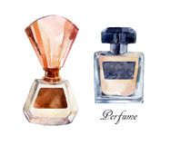 Perfume watercolor illustration. Royalty Free Stock Images
