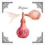 Perfume watercolor illustration. Stock Image