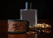 Perfume y accesorios Fotografía de archivo libre de regalías
