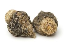 Perfumed ginseng and macae Maca. Isolated on white background royalty free stock photography