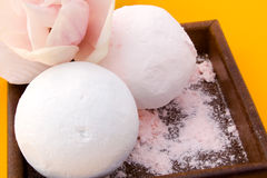 Perfumed Powder For Bath. Body care - compact perfumed powder for bath stock images