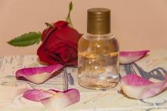 Perfumed Rose Water. Rose Petals royalty free stock image