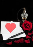 Perfumed valentine's day letter Royalty Free Stock Image