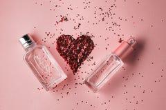 Perfumería, colección de la fragancia imagen de archivo