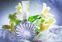 Perfumería, cosméticos, colección de la fragancia fotografía de archivo libre de regalías