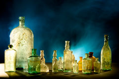 Perfumer bottles Royalty Free Stock Photo