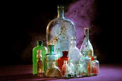 Perfumer bottles Royalty Free Stock Photos