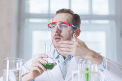 The perfumer in a lab Stock Photography