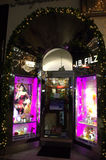 Perfumery entrance Vienna Royalty Free Stock Images