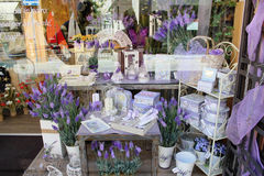 Perfumery and spirits from a lavender Royalty Free Stock Photos