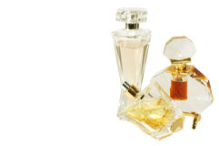 Perfumes. Three Perfumes bottle next to each other Stock Images