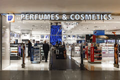 Perfumes and Cosmetics Duty Free Shopping Royalty Free Stock Photography