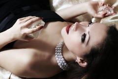 Perfumes del olor de la mujer Foto de archivo