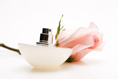 Perfumes with flower roses Stock Images
