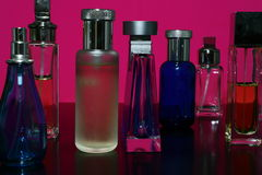 Perfumes and Fragrances Bottles. Silhouete of Perfumes and Fragrances Bottles Royalty Free Stock Images