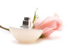 Perfumes with  roses Royalty Free Stock Image