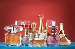 Perfumes. Scented Perfume Sprayer Bottle Cosmetics Spray Spraying Stock Photography