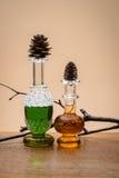 Perfumes and smoke Royalty Free Stock Photos