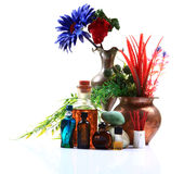 Perfumes y petróleos aromáticos Foto de archivo libre de regalías