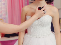 Perfuming Bride Stock Photo