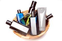 Perfums und deodrant Flaschen Lizenzfreies Stockfoto