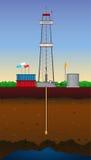 Perfuração do poço de gás Imagem de Stock Royalty Free