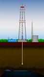 Perfuração do poço de petróleo Fotos de Stock